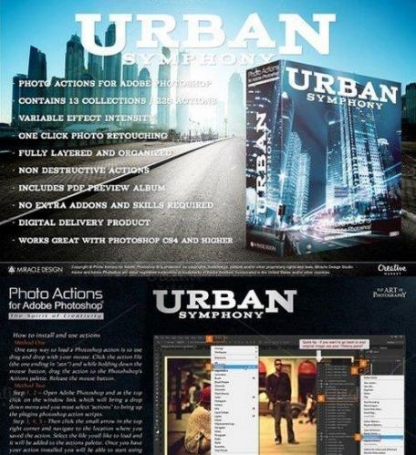 Actions for Photoshop - Urban