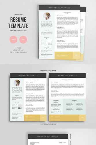 Resume Template The Whitney 3pk
