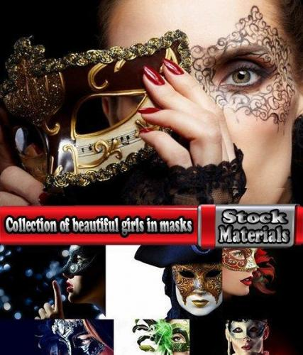 Collection of beautiful girls in masks 25 UHQ Jpeg