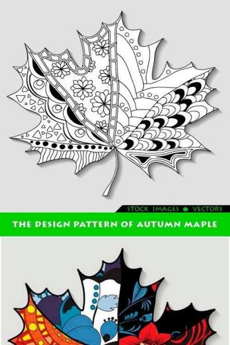 The design pattern of autumn maple 3x EPS