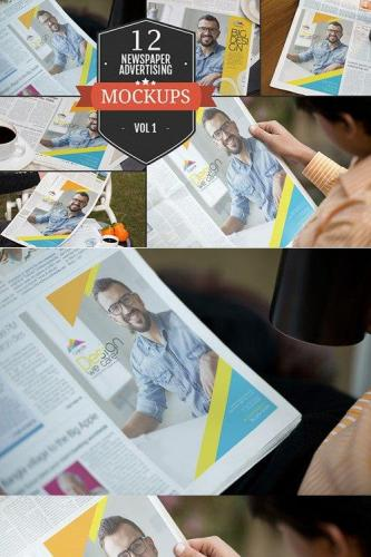 Newspaper Advertising Mockups Vol. 1