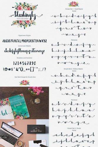 Blushingly Typeface - Wedding Font