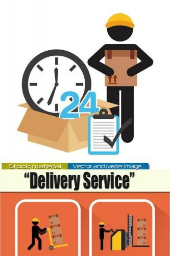 Delivery service - Infographics in Vector