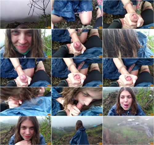MihaNika69 - I Jerking off my Guide in the Mountains - Public POV - Pulsating Cum Mouth [FullHD 1080P]