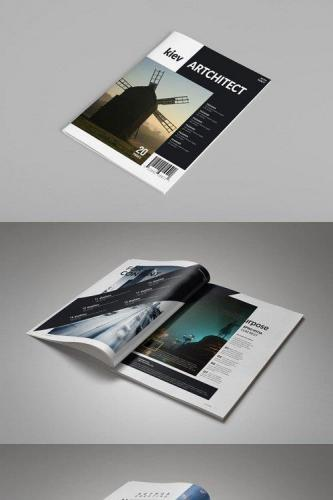 InDesign Magazine Template 20s Pages