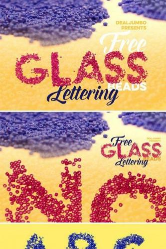 Glass Beads Lettering