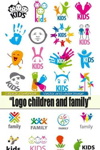 Children and family - Logos in Vector