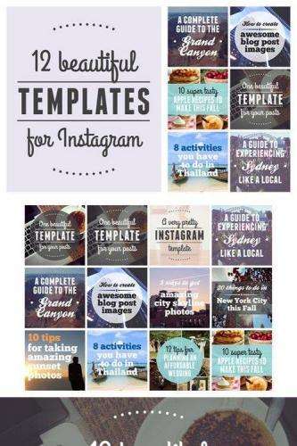 12 beautiful templates for Instagram