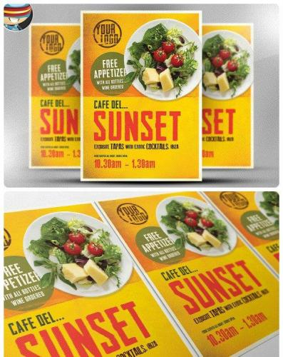 Cafe Sunset Flyer