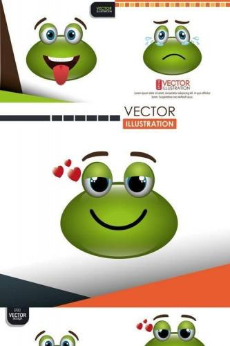 Frog Emoticon Design
