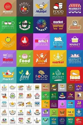 Food And Market Icons and Logos
