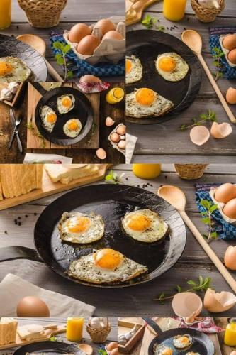 Eggs Fried Rustic Style