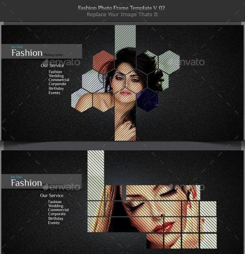 Fashion Photo Frame Template v02